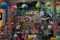 """Randyland is the most painted house in the galaxy. The colorful house is Randy Gilson's backyard where he welcomes guests from all over the world to come relax and be happy."""