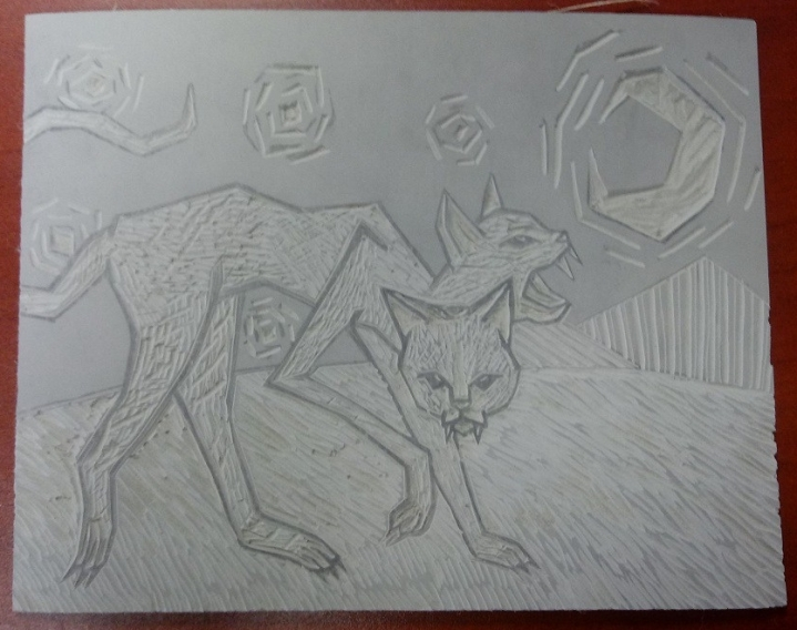 Cat Linoleum